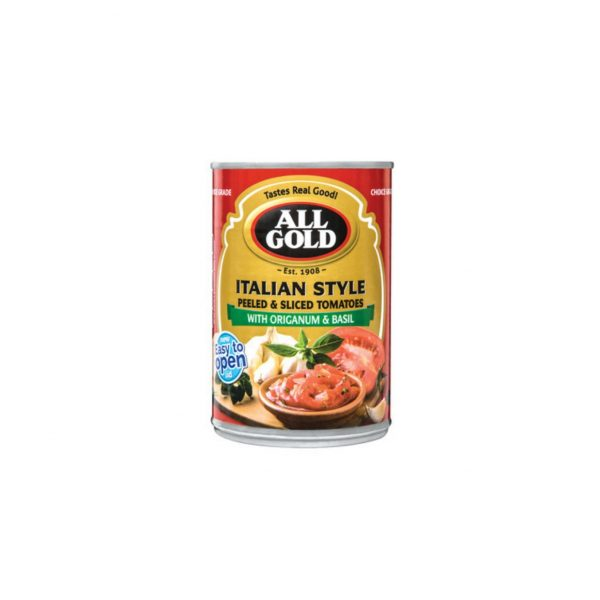 All Gold Diced Italian 410g 6001059989708 front