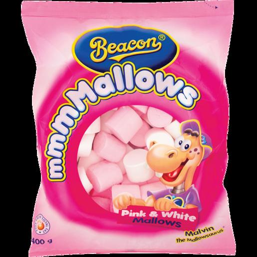Beacon Pink White Marshmallows 400g