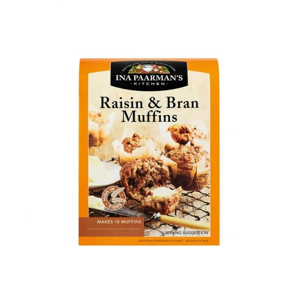 Ina Paarman bake mix bran muffin with raisin front