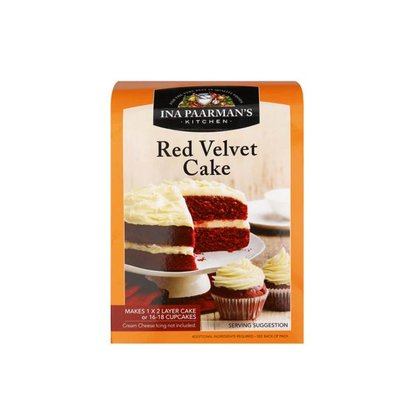 Ina Paarman bake mix red velvet cake 580g front