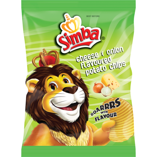 Simba Cheese Onion Flavoured Potato Chips 125g