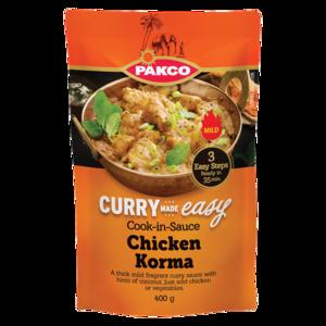Pakco Chicken Korma Cook In Sauce 400g